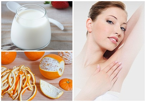Tận dụng vỏ cam và sữa chua để trị thâm nách