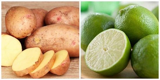cách trị hôi nách bằng khoai tây và chanh