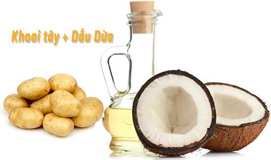 cách trị hôi nách bằng khoai tây và dầu dừa tốt nhất