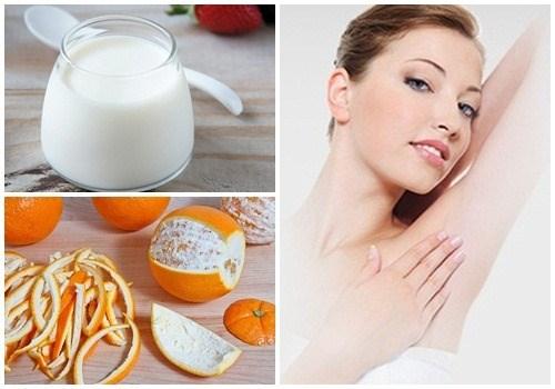 Cách trị thâm nách tại nhà bằng vỏ cam và sữa chua