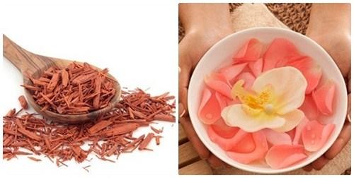 Cách trị thâm nách hiệu quả với gỗ đàn hương và nước hoa hồng
