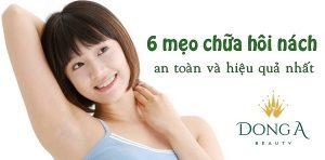 6 mẹo chữa hôi nách hiệu quả và an toàn